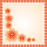 Floral Vector Pattern. Fine Greeting Card. EPS10. Oriental vector frame with damask, arabesque and floral orange pattern. Fine greeting card. EPS10 Royalty Free Stock Image