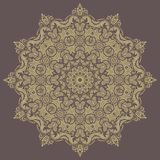 Floral Vector Pattern. Orient Abstract Background. Floral vector oriental pattern with damask, arabesque and floral elements. Fine abstract ornament Stock Images