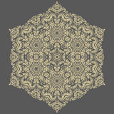 Floral Vector Pattern. Orient Abstract Background. Floral vector oriental pattern with damask, arabesque and floral elements. Abstract ornament for background Stock Photo