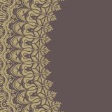 Floral Vector Pattern. Orient Abstract Background. Floral vector oriental pattern with damask, arabesque and floral elements. Abstract wallpaper and background Stock Photos