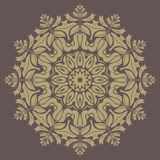 Floral Vector Pattern. Orient Abstract Background. Floral vector oriental pattern with damask, arabesque and floral elements. Abstract wallpaper and background Stock Photography