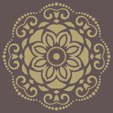 Floral Vector Pattern. Orient Abstract Background. Floral vector oriental pattern with damask, arabesque and floral elements. Abstract wallpaper and background Royalty Free Stock Image