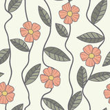 Floral vector pattern. Seamless doodle flowers. Stock Photo