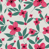 Floral vector pattern. Seamless doodle flowers. Royalty Free Stock Photography