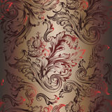 Floral vector pattern with swirls for design. In luxury style Stock Photo
