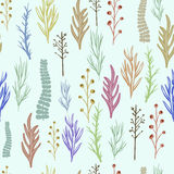 Floral vector pattern, texture with flowers. Stock Images