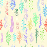 Floral vector pattern, texture with flowers. Royalty Free Stock Images