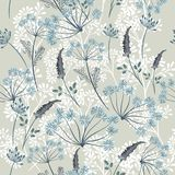 Floral vector pattern in vintage style for design Royalty Free Illustration