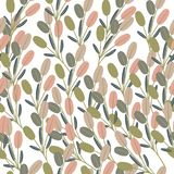 Floral vector pattern in vintage style with leaves Vector Illustration