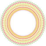 Floral Vector Round Colorful Frame Royalty Free Stock Photography