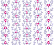 Floral vector seamless background royalty free illustration