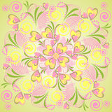 Floral vector seamless pattern Royalty Free Stock Images
