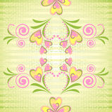 Floral vector seamless pattern Stock Image