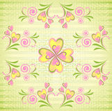 Floral vector seamless pattern Royalty Free Stock Image