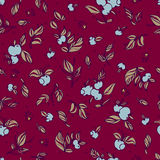 Floral vector seamless pattern Royalty Free Stock Photo