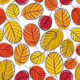 Floral vector seamless pattern, autumn leaves seamless backgroun Stock Image