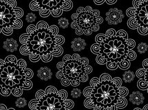 Floral vector seamless pattern with figured daisy flowers Stock Photo