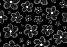 Floral vector seamless pattern with figured flowers Stock Photo