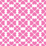 Floral vector seamless pattern with heart shapes Stock Photo