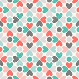 Floral vector seamless pattern. Red, green, black Stock Photo
