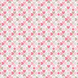 Floral vector seamless pattern. Red, pink, gray, Stock Images