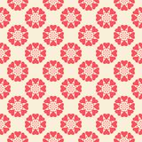 Floral vector seamless pattern. Red and white Stock Photo