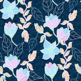 Floral vector seamless pattern Royalty Free Stock Photography