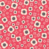 Floral seamless repeat pattern, oriental inspired stock illustration