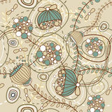 Floral vector seamless texture Royalty Free Stock Photography