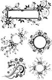 Floral vector set. Floral set. Many decorative elements. Isolated on a white background. Vector will be aditional Stock Photos