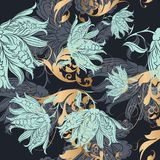 Floral  vector wallpaper pattern in classic style Stock Images