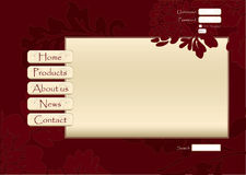 Floral vector web site design Royalty Free Stock Photo