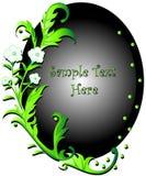 Floral verde de Swirly Fotografia de Stock Royalty Free