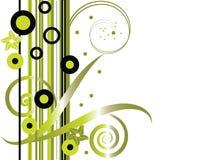 Floral vert dernier cri illustration de vecteur
