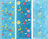 Floral vertical banners set Stock Image