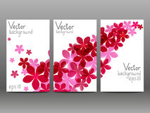 Floral vertical banners Royalty Free Stock Photos