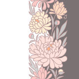 Floral Vertical Seamless Pattern. Royalty Free Stock Photo