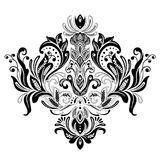 Floral victorian ornament vector design. Isolated on white background decorational element royalty free illustration