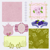 Floral vignette. Frames and  decor seamless Royalty Free Stock Photo