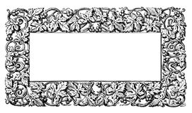 Floral vine pattern frame Royalty Free Stock Image