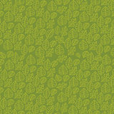 Floral vine pattern (seamless) on green background Stock Photo