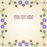 Floral Vintage Background, Invitation Or Greeting Card. Stock Photo
