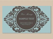 Floral vintage business card Royalty Free Stock Photos