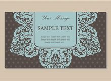 Floral vintage business card Stock Images