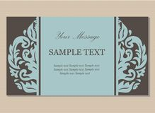 Floral vintage business card Stock Image