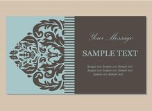 Floral vintage business card Stock Photo