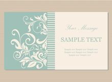 Floral vintage business card Royalty Free Stock Image