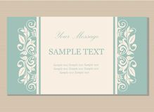 Floral vintage business card Royalty Free Stock Photography