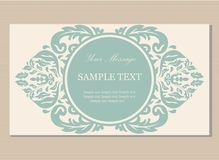 Floral vintage business card Royalty Free Stock Photo