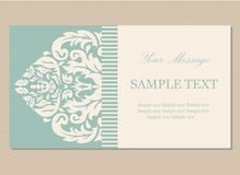 Floral vintage business card Royalty Free Stock Images